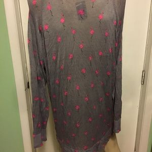 torrid Sweaters - Torrid Gray Flamingo Sweater Top 3 22/24